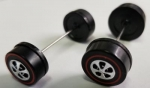 Axle set w/wheels - Straight - Medium front Large back