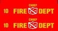 Olds 442 Fire Chief  decal