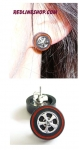 Redline Wheel Earrings