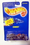 1992 Hot Wheels Blue Card ZOMBOT No.224 STANDS OR ROLLS ~ ULTRA HOT WHEELS