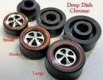 Deep Dish Wheels Chrome Bearing (choose 4)