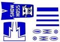 Show Hoss decal. Red or Blue