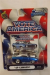 MUSCLE MACHINES VOTE AMERICA 69 CAMARO BLUE 04-26