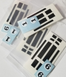 Spoiler Series Decal set - Black with Number