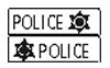 Olds 442 Police Decal