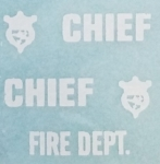 Fire Dept. Cruiser waterside decal