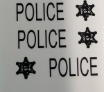 Police Cruiser waterslide decal