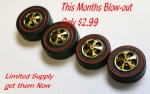 Gold Plated Redline Cap Wheels large/medium